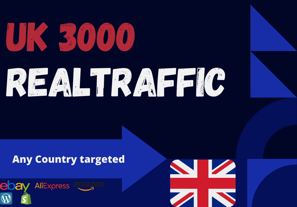 UK website Real person 3000 traffic low bounce rate google analytics trackable