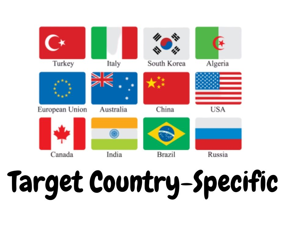 Country Targeted website Real person 3000 traffic low bounce rate google analytics trackable