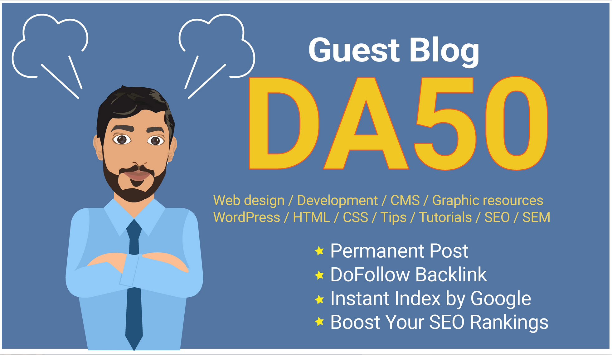 guest post on da 50 blog with dofollow backlink