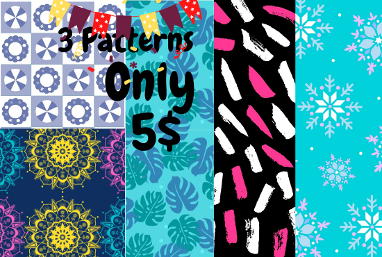 I will design awesome,  unique patterns according to your needs