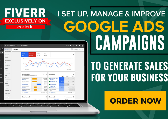 I will do google ads,  AdWords to generate sales
