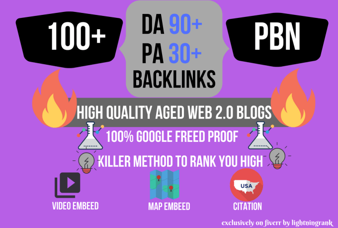 High 101+ PA DA TF CF HomePage PBN Backlinks - Dofollow Quality Links