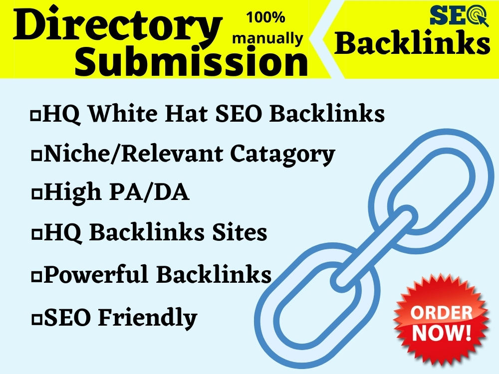 build 100 niche directory submission for SEO backlinks