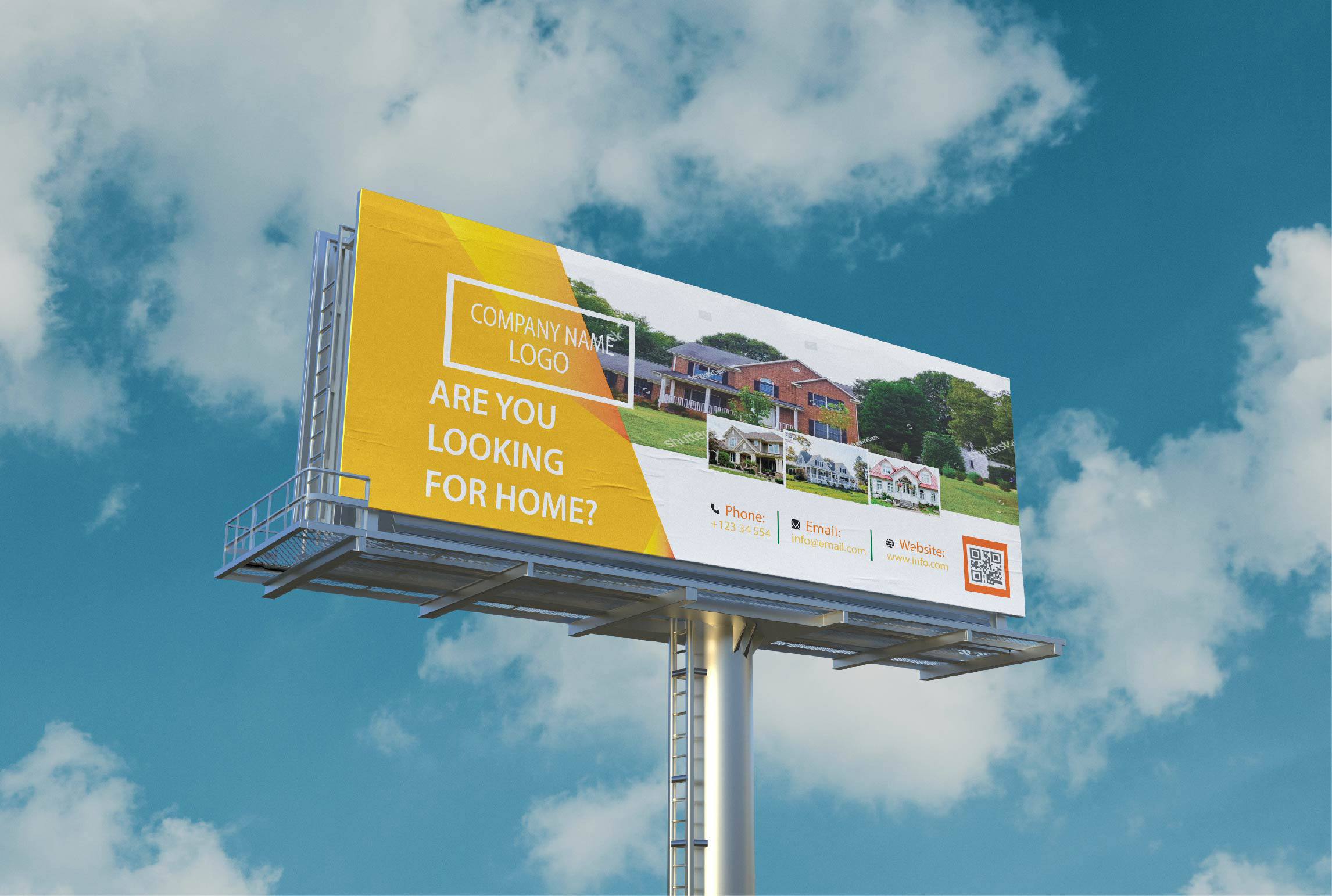 I will do impactful billboard and rollup banner design for you