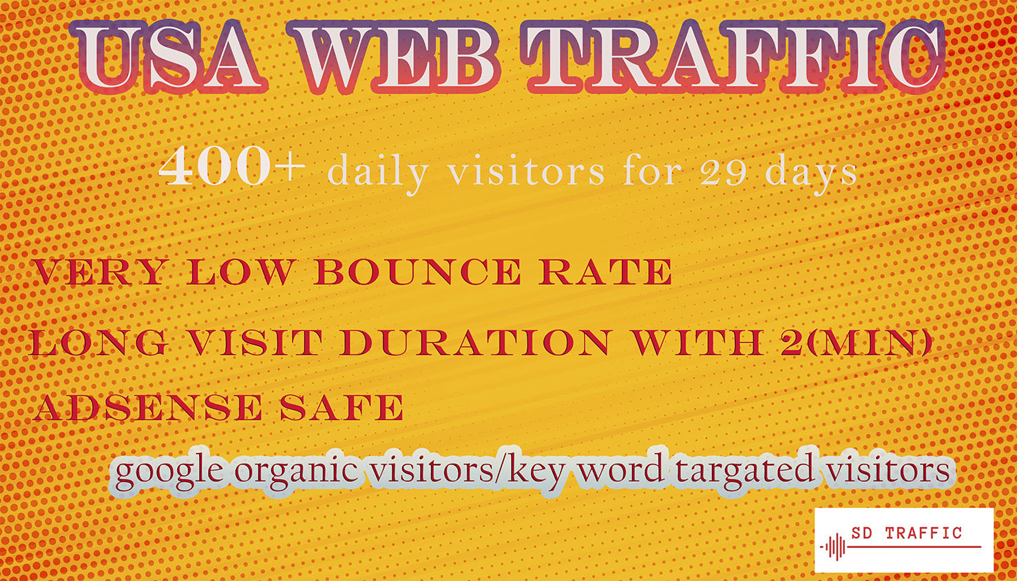 I will send 100,000+ USA target traffic in low price