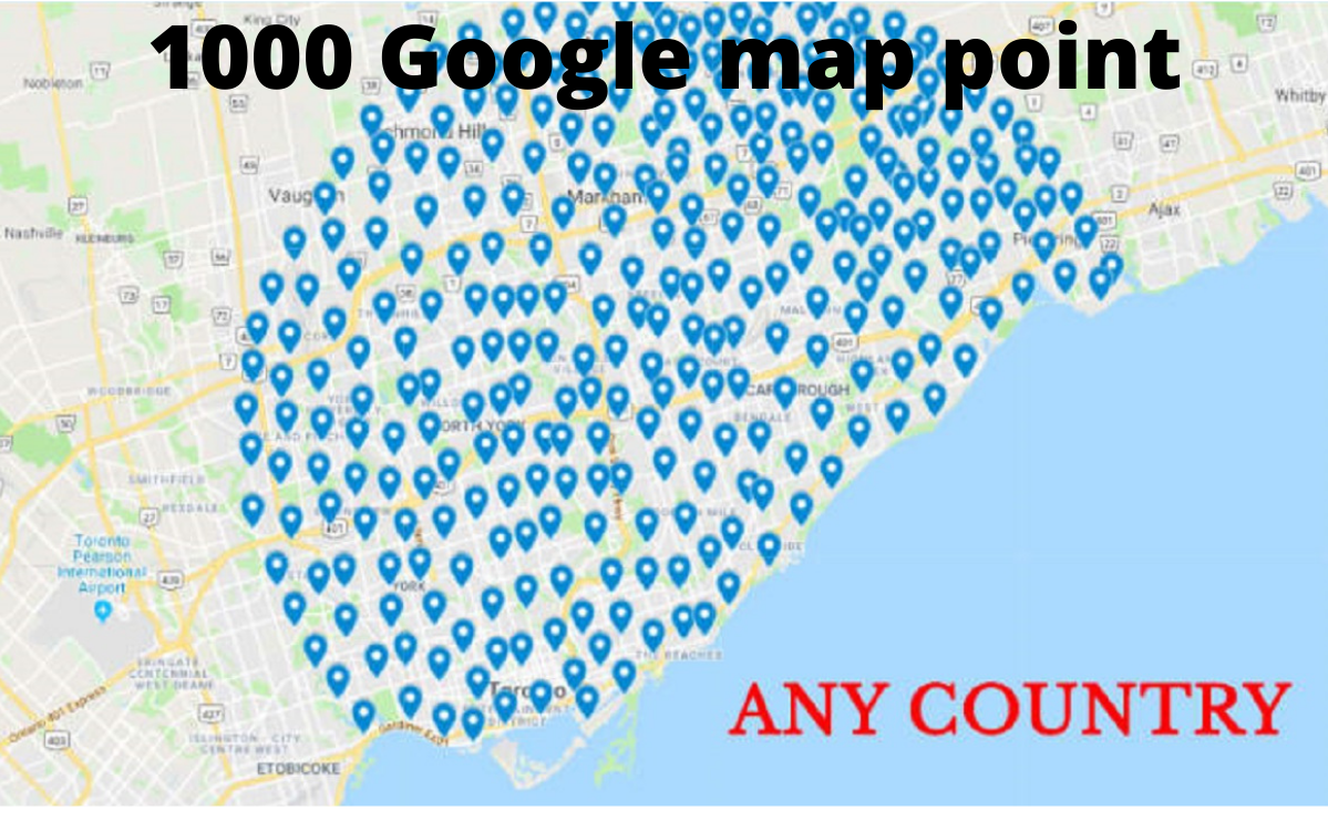 I will create 1000 google map point citation for your business