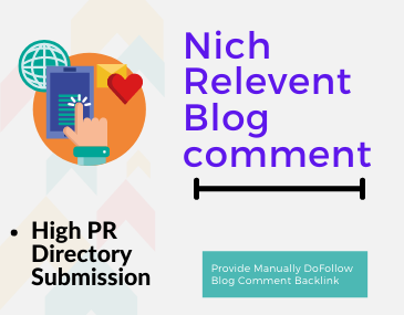 20 Niche Relevant Blog Comment Instant Approved