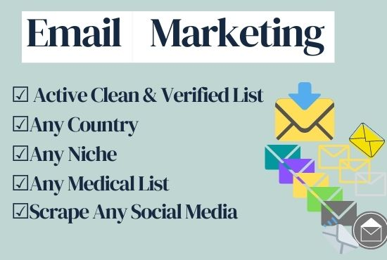 I will collect niche active and clean bulk email list for email marketing