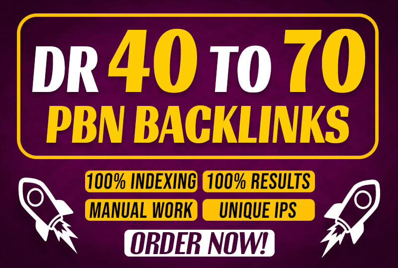 I will 10 build super quality high dr 40 to 70 seo dofollow PBN backlinks