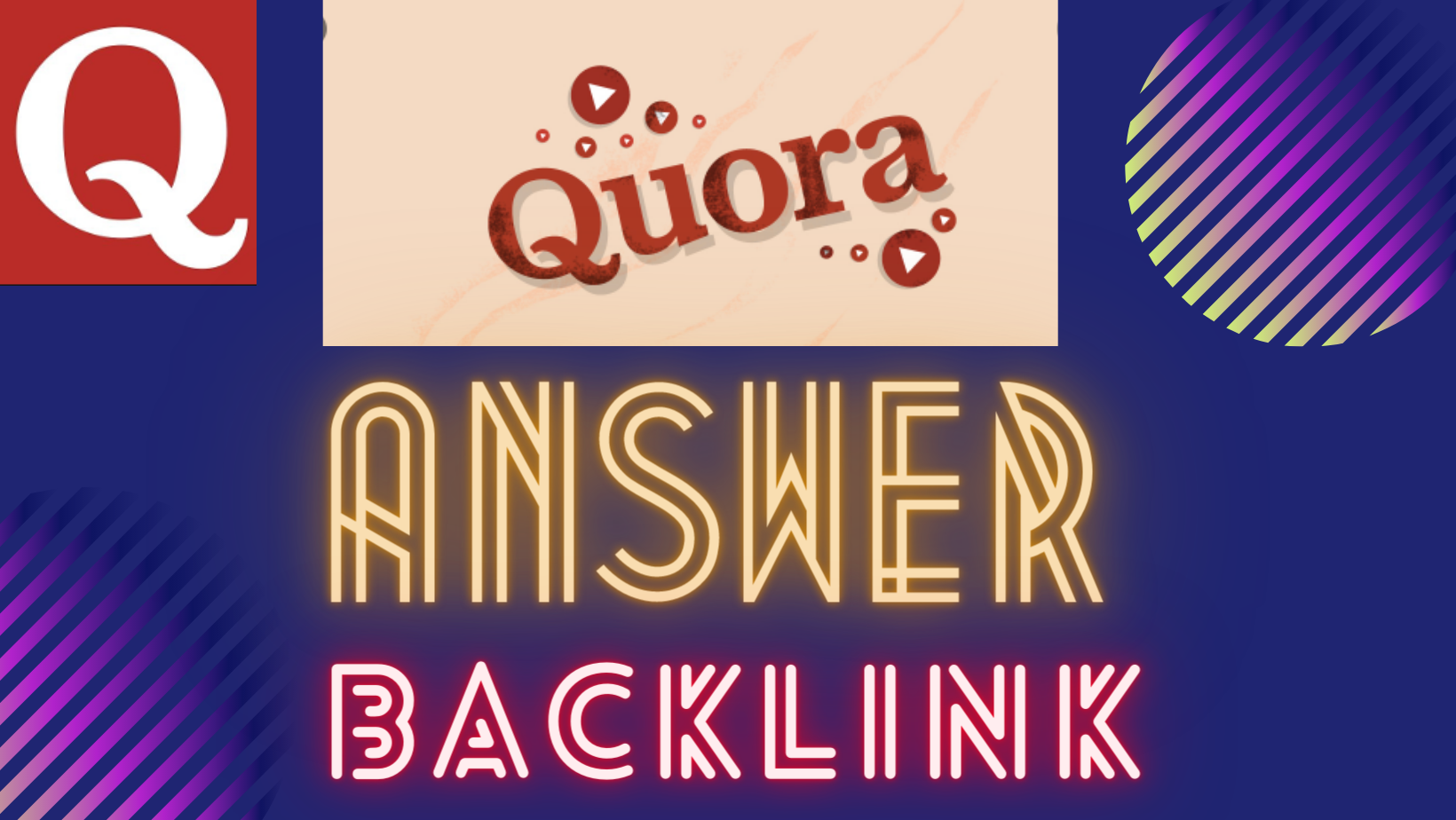 10 Quora Answers Based on Keywords including Backlink