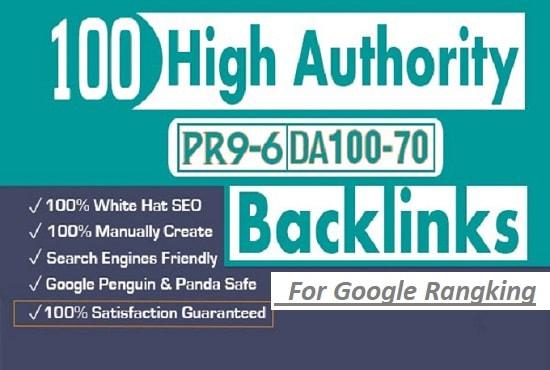 create 100 high da authority backlinks for google ranking