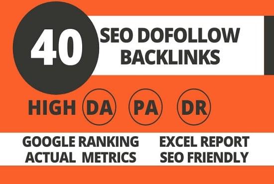 Do HQ DA 60 to 90 manual seo link building dofollow backlinks