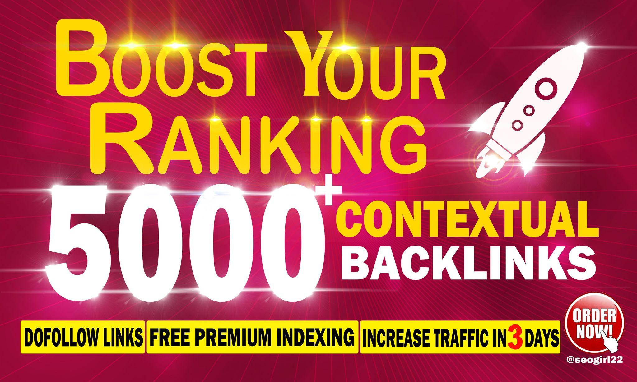 create 5000 manual contextual seo dofollow backlinks