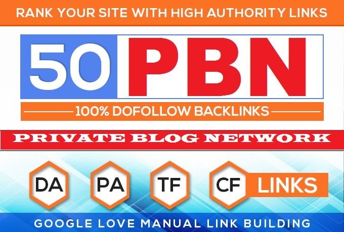 build 50 plus permanent Domain Authority 50 pbn backlinks