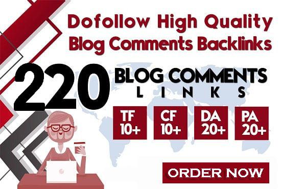do 220 prime quality dofollow blog comments