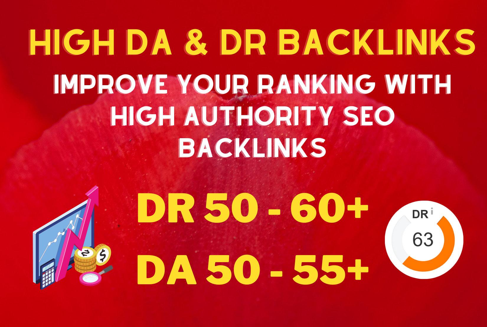 create 300 high authority da DR 50 60 off page SEO dofollow contextual backlinks