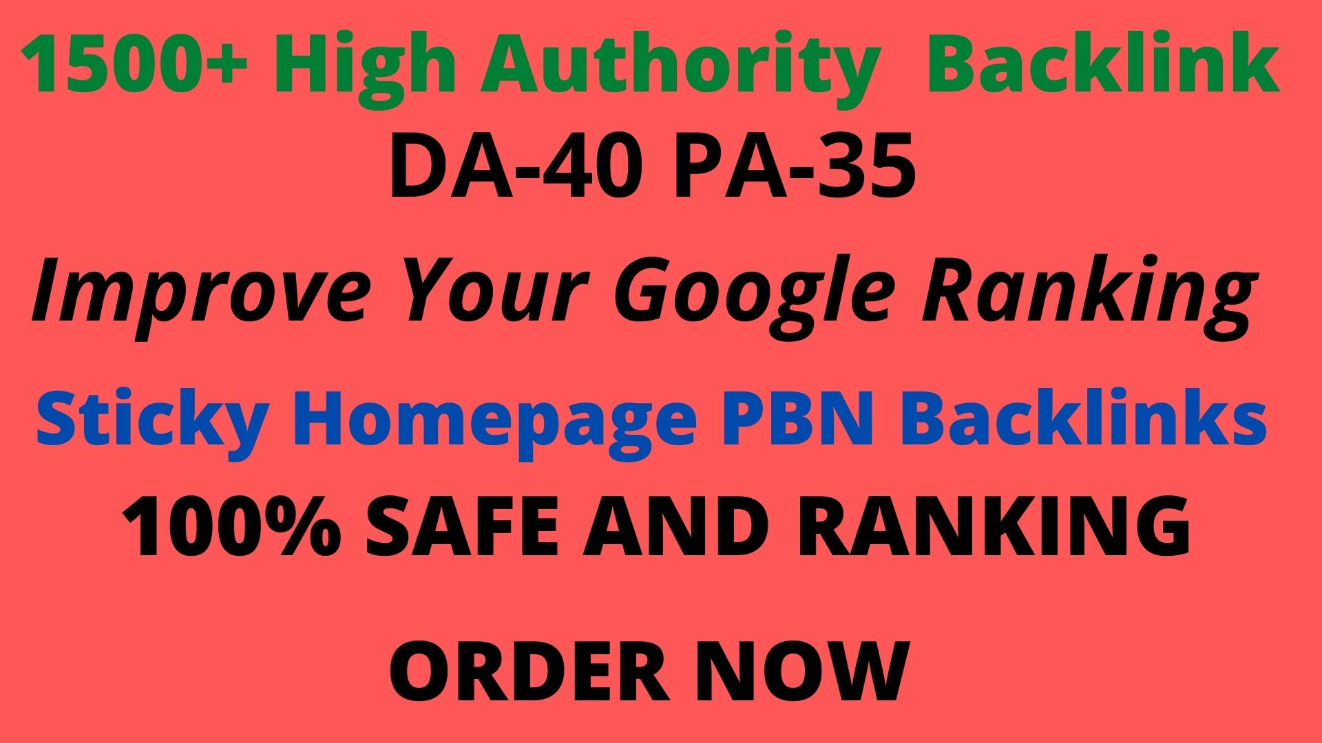 Get powerful 1500+ pbn backlinks with high DA /PA on your homepage.