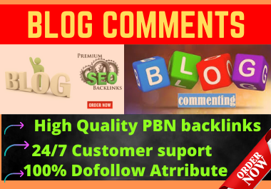 Live 50 High Quality Blog Comments Do Follow Permanent Backlinks on DA 30+