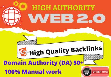 20 Web 2.0 High authority unique content low spam score Permanent backlinks