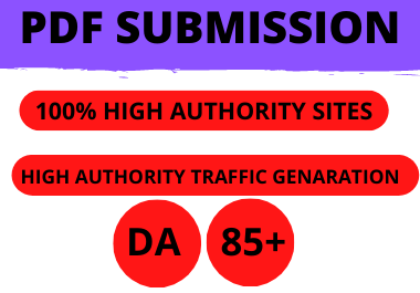 20 PDF Submission High Authrity low spam Permanent manual link building