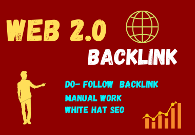 30 Web 2.0 High DA Do-follow Back links permanent backlink