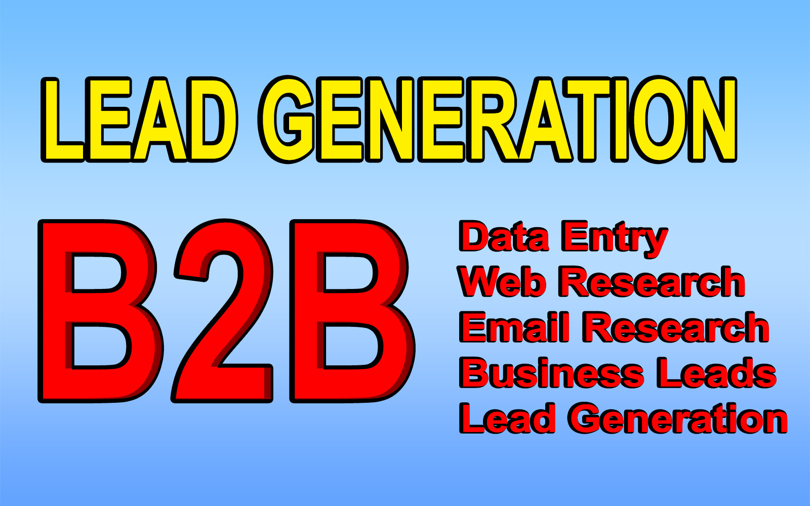 I will collect targeted B2B Lead Generation
