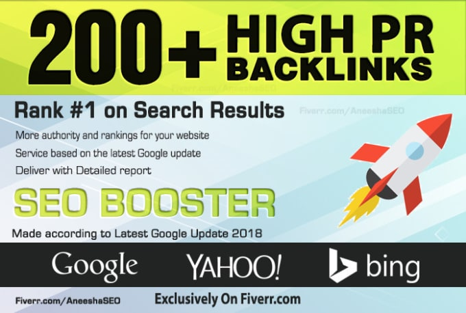 Search Top ranking Build 200 HIGH-QUALITY Backlinks PR9,  EDU/GOV,  Web2 Post,  Article Submission Boos