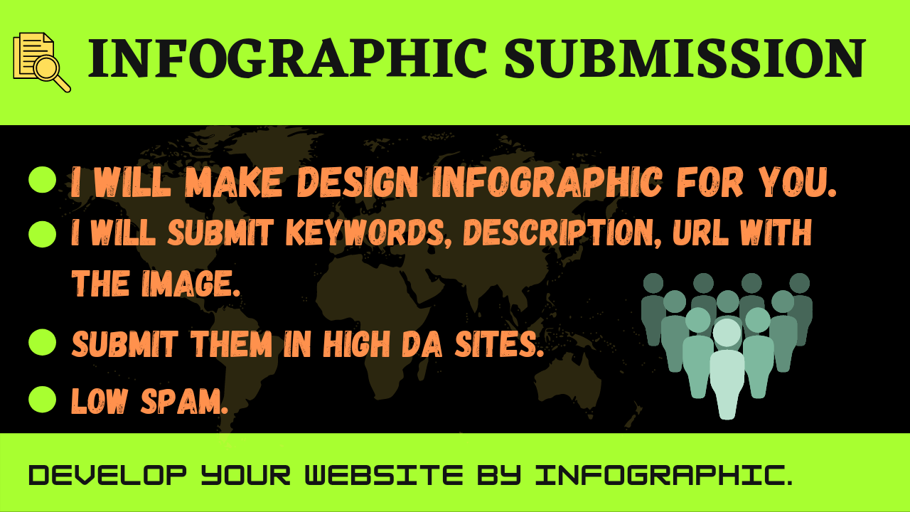 I will design and submit infographic on 80 high DA sites manually.