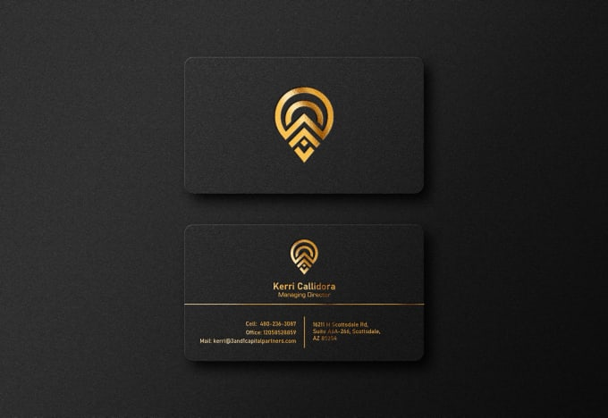 I will do modern luxury business card and logo design
