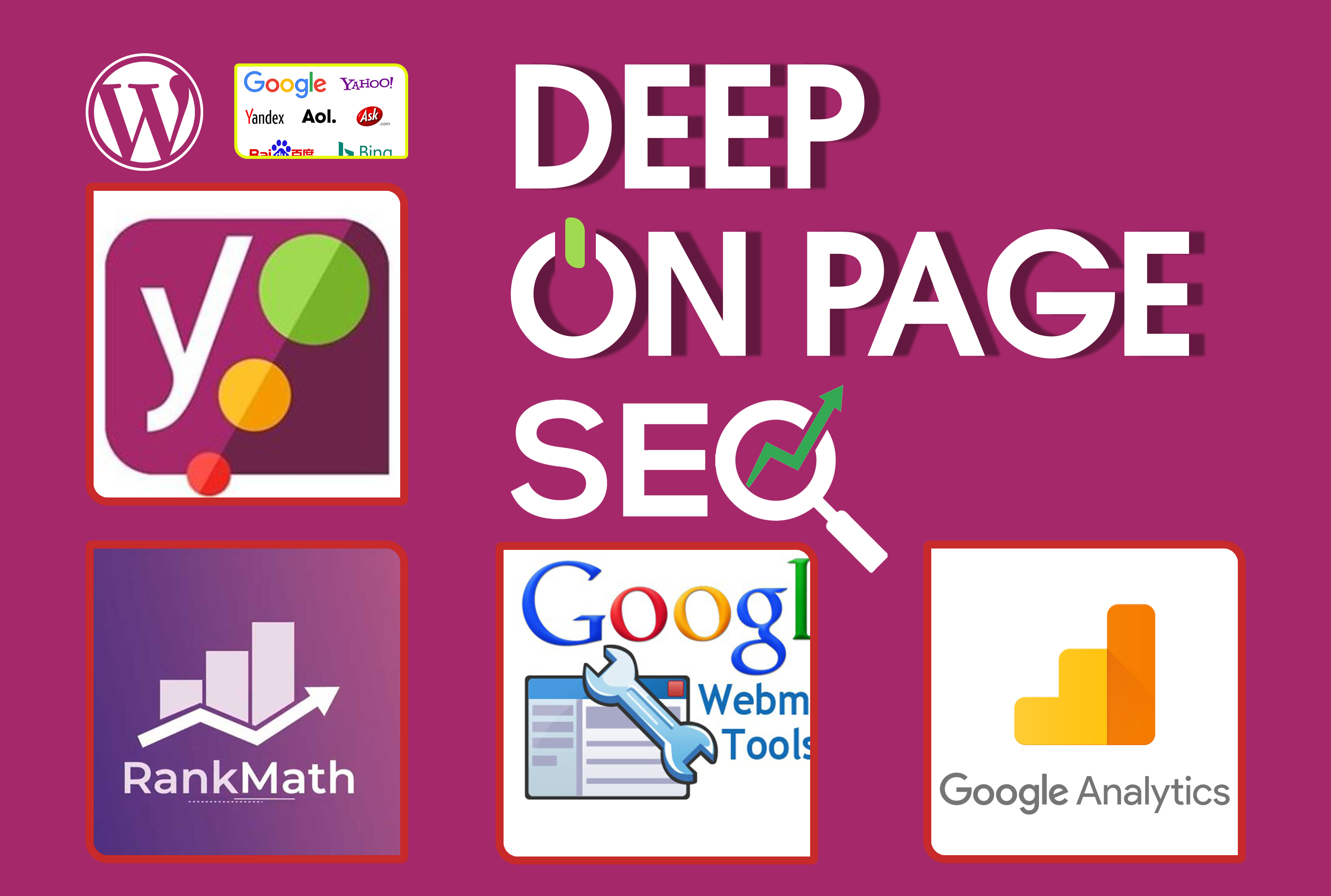 I will do deep on page SEO of your wordpress website