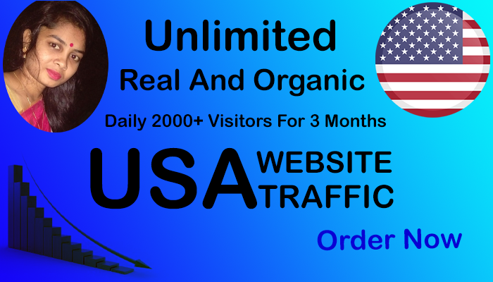 Daily 2000+ Real and Organic USA Website Traffic within 1 month