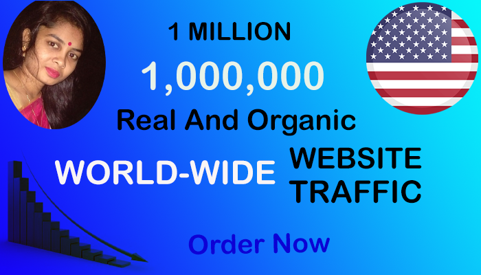 Real and Organic 1,000,000 1Million World-Wide Website Traffic within 15 Days