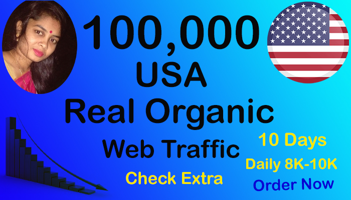 Real and Organic 100,000 USA Website Traffic within 10 Days