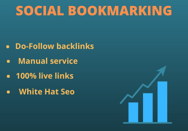 I will create 25 social bookmarking for your website