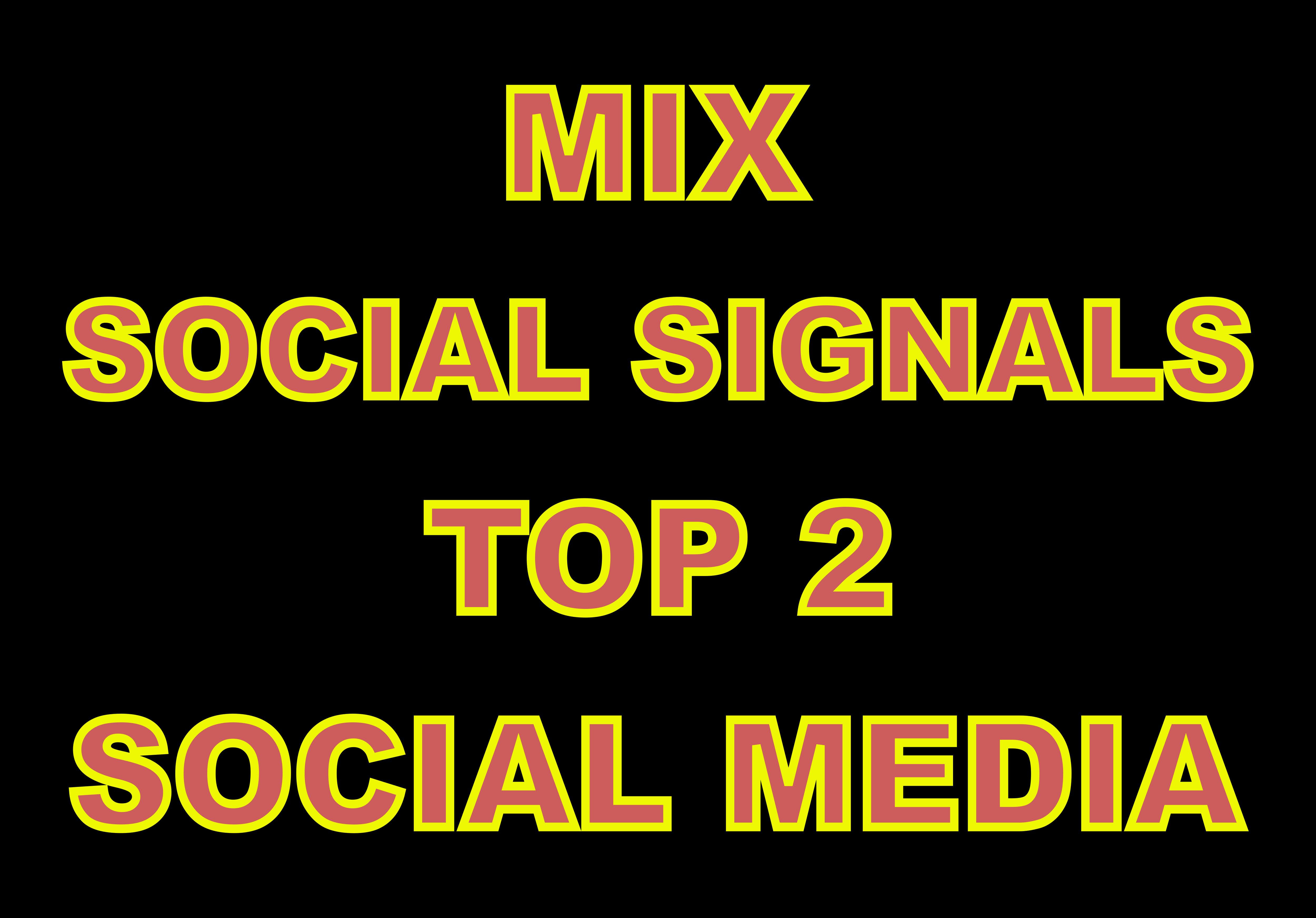 4000 TOP 2 Platform Seo Social Signals