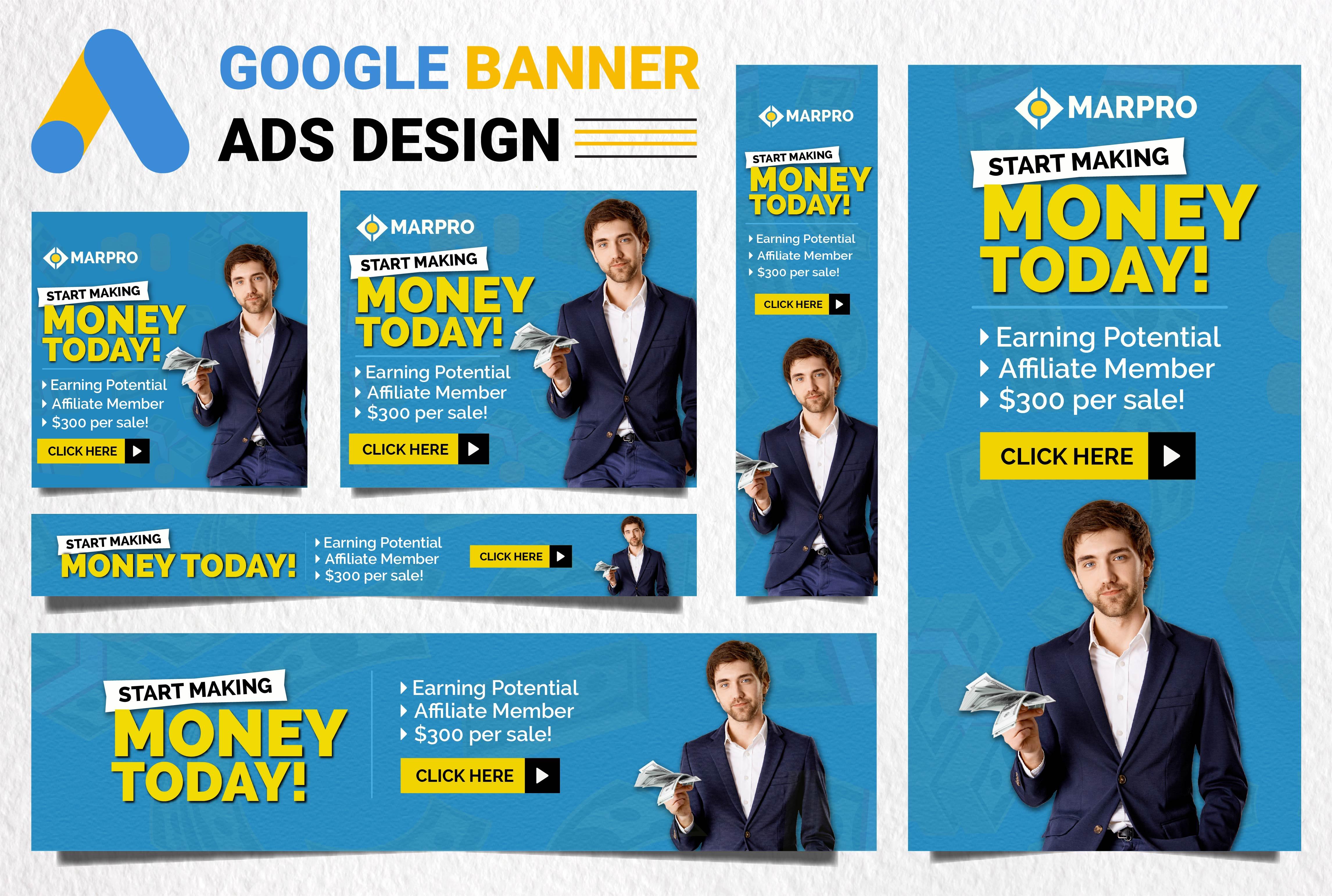 I will design creative google banner ads