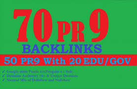 I will create 50 PR9 and 20 edu gov backlinks put in hand and it's satisfactory backlinks