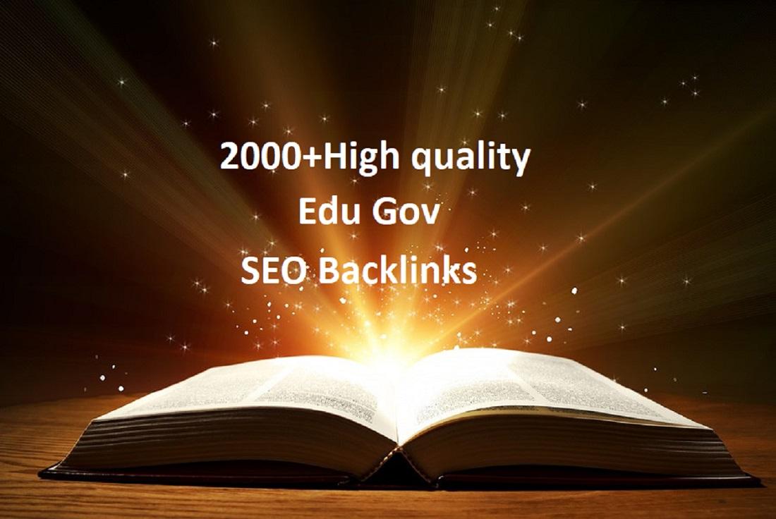 I Will provide you 2000 High quality Edu Gov Backlinks to Rank your website