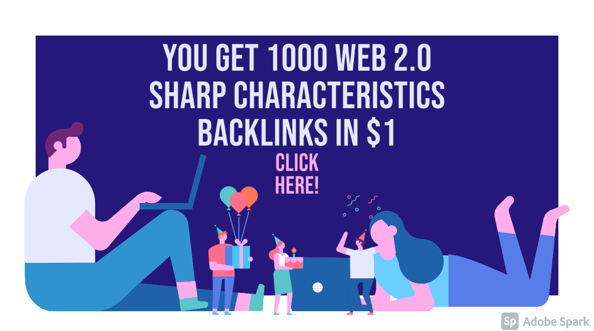 1000 web 2.0 sharp characteristics backlinks