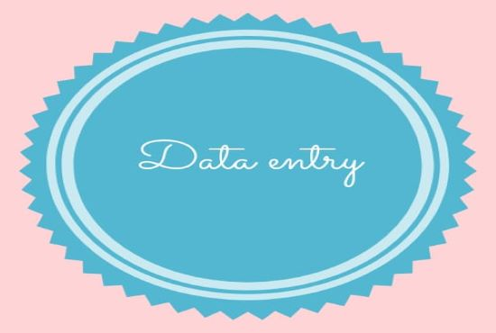 i will offering all type of data entry services