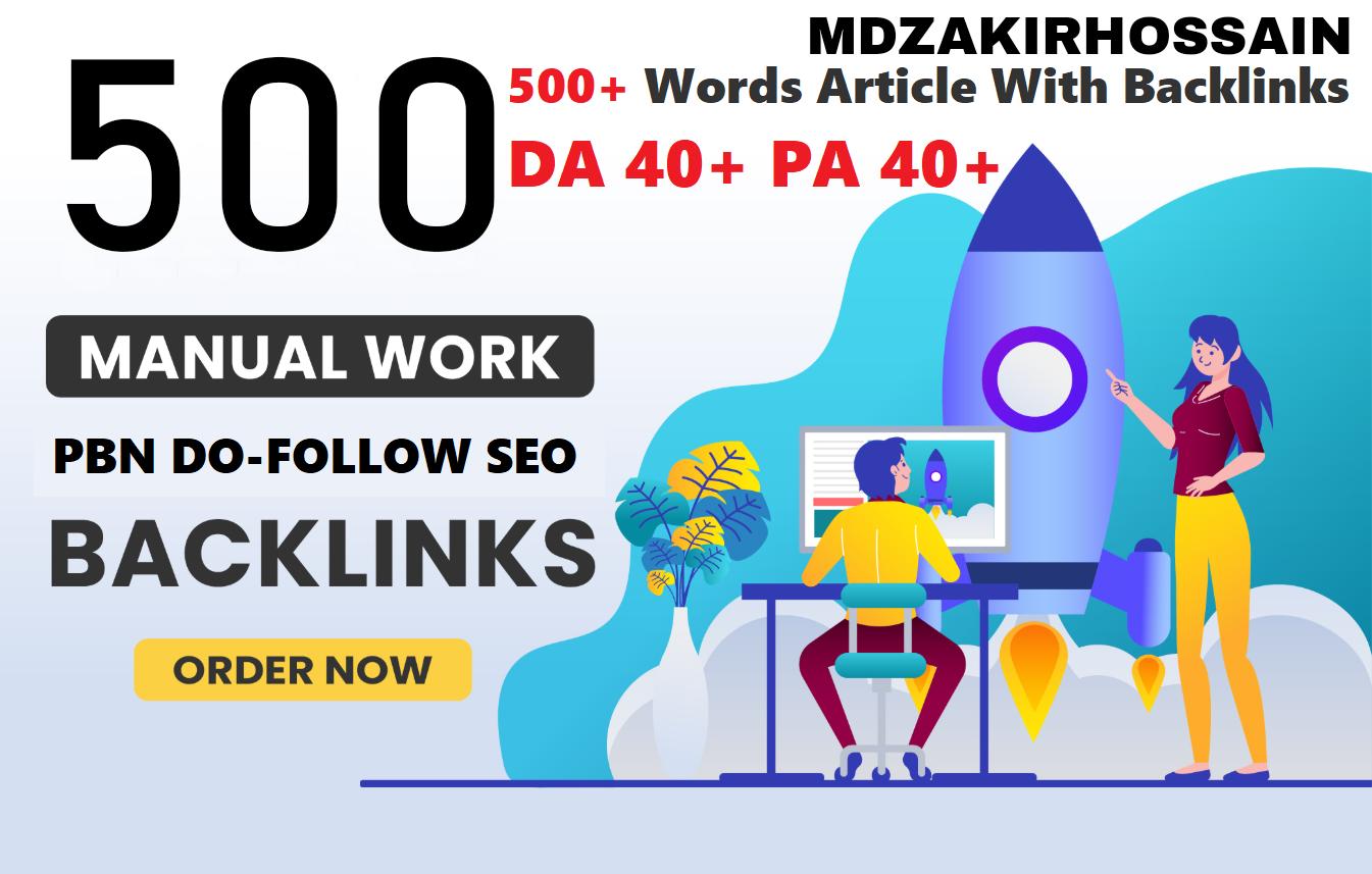 Special 500 Sites DA 40+ PA 35+ PR 5+ Web 2.0 500 PBN