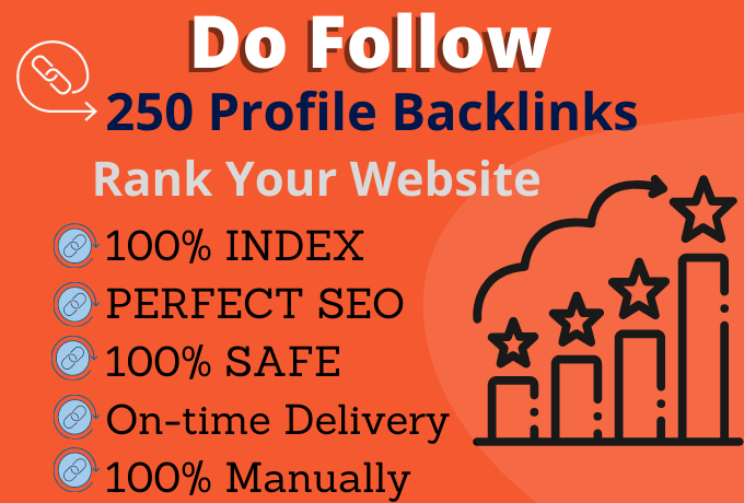 I will build 250 high quality profile backlinks manually