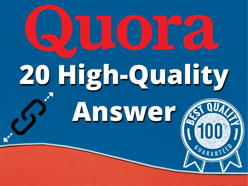 Posting 20 HQ Quora answers with clickable Backlinks