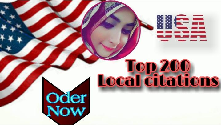 I will do 200 local citations listings and directory