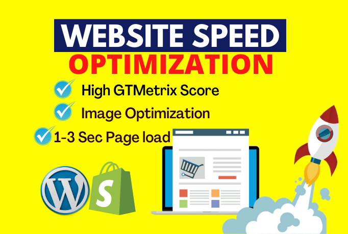 I will do speed Optimization of WordPress, Shopify website to increase website ranking by SEO