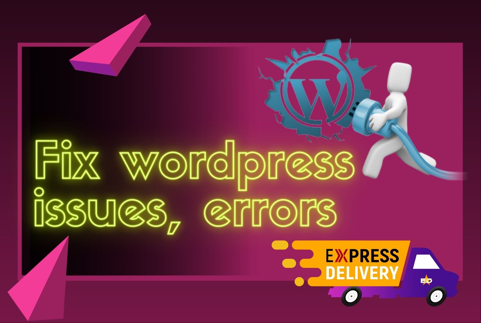 Fix wordpress issues,  bugs,  woocommerce issues quickly