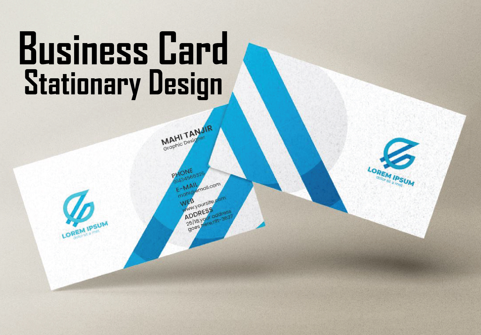 I can create eyecatchy business cards and stationery design