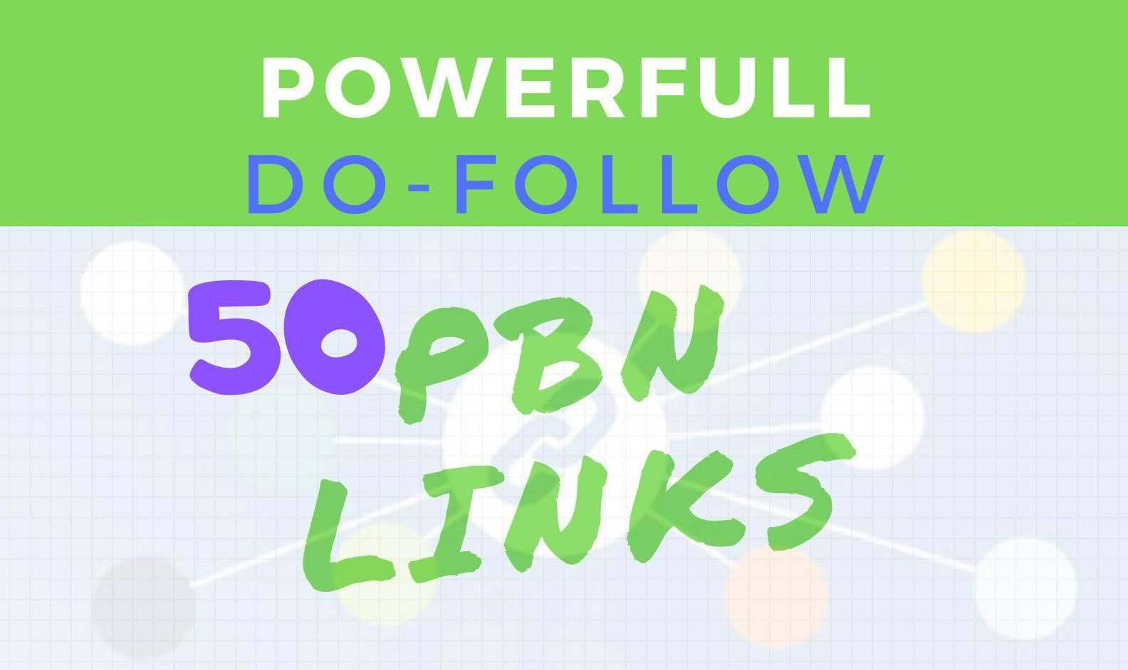 make 50 SEO pbn dofollow backlinks
