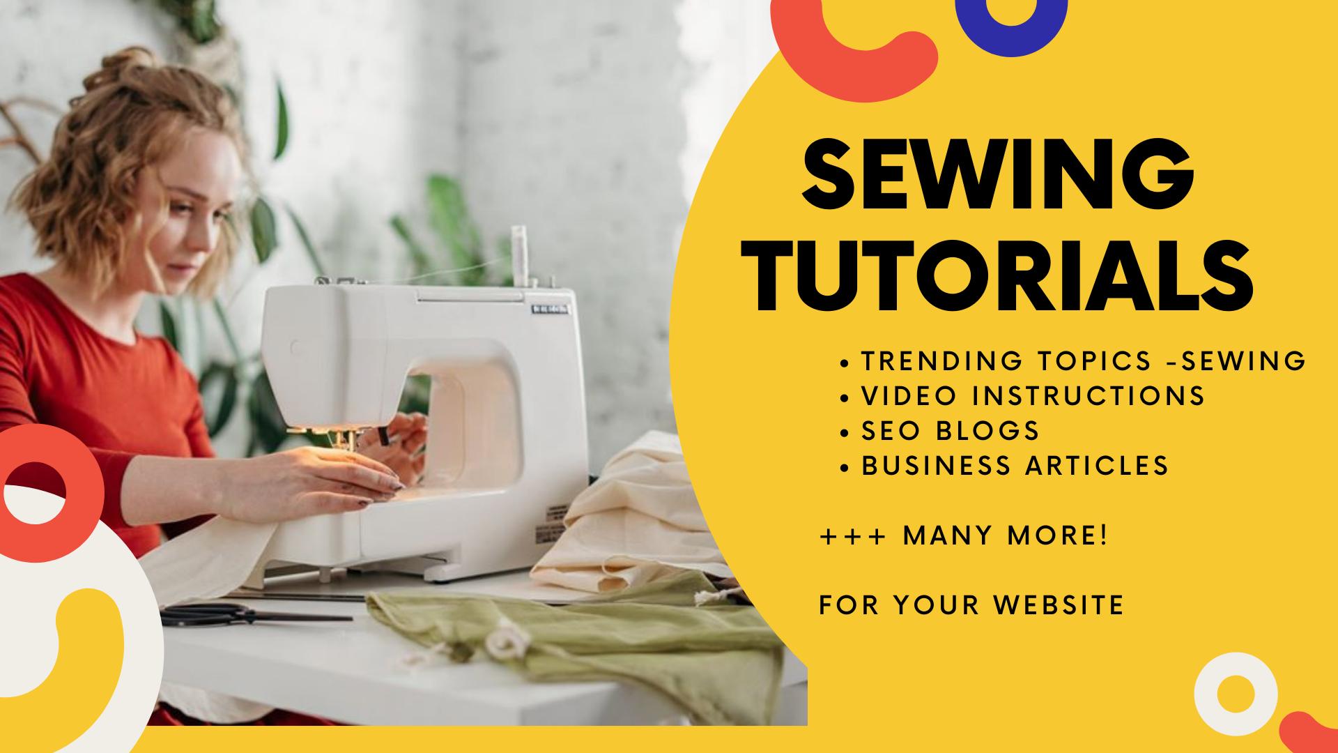 I will do sewing instructional videos for your Website