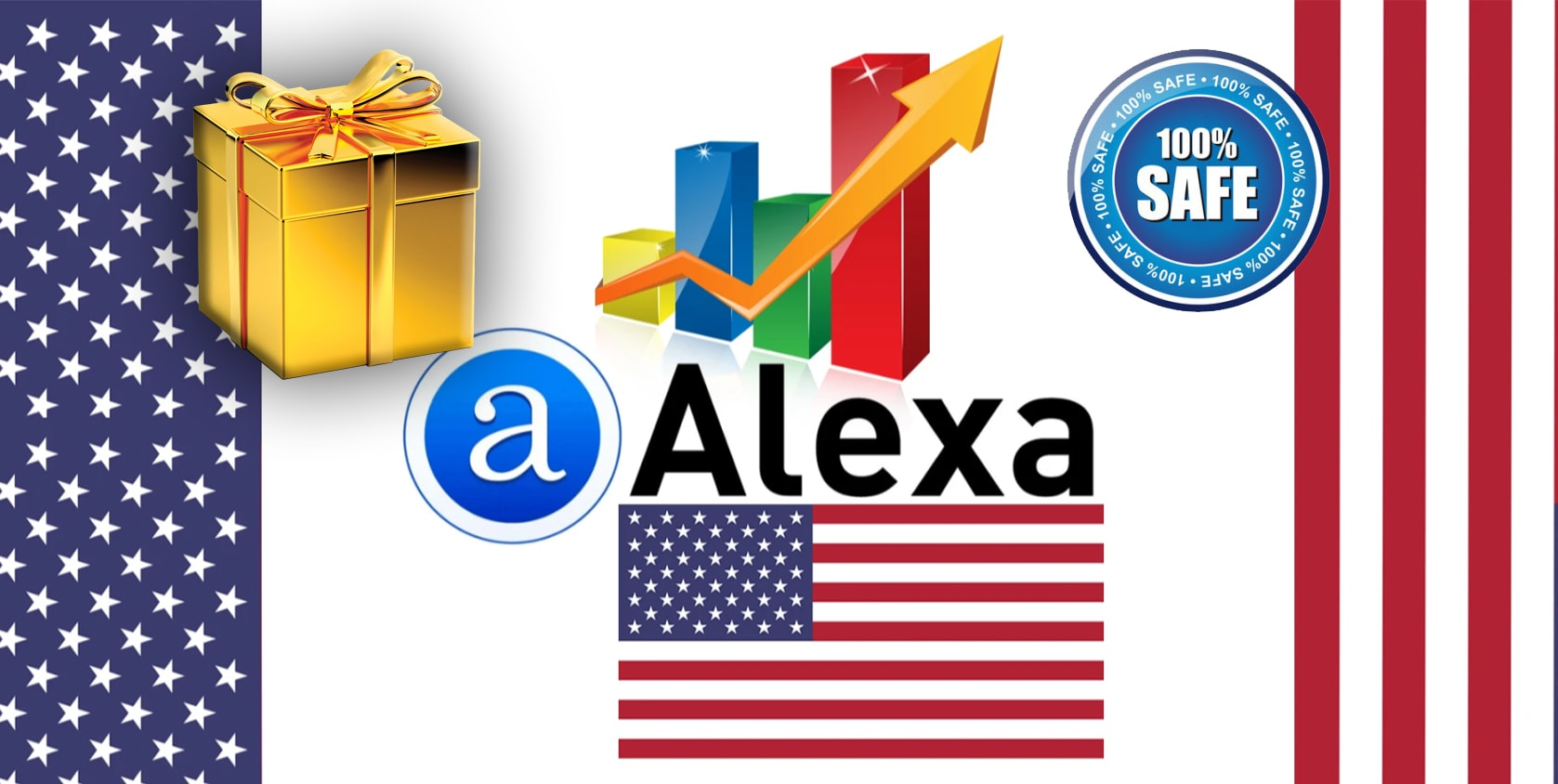 I will improve global and USA alexa rank with traffic and backlink